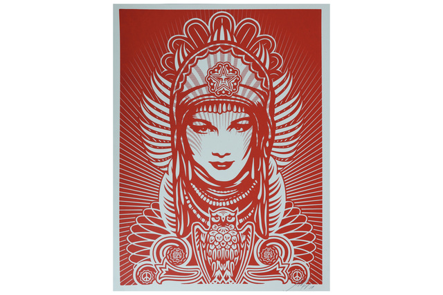 Shepard Fairey, 'Peace Goddess (Red)', 2007, Chiswick Auctions