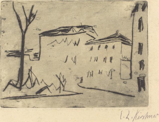 Ernst Ludwig Kirchner, 'Street Corner in Dresden (Strassenecke Dresden)', 1909, National Gallery of Art, Washington, D.C.