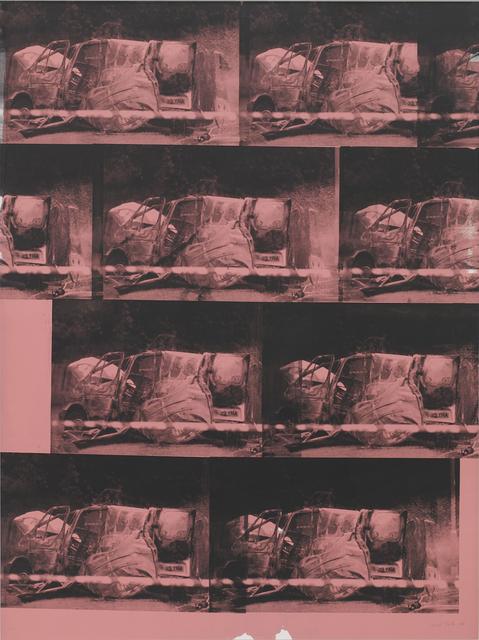 Gavin Turk, 'Transit Disaster Black on Pink', 2018, Alex Daniels - Reflex Amsterdam