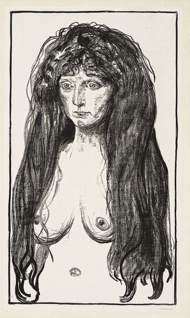 , 'Kvinne med rødt hår og grønne øyne.  Synden (Woman with Red Hair and Green Eyes. The Sin),' 1902, John Szoke