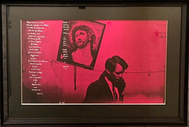 Corita Kent, 'In Memory of R.F.K.', 1968, Print, Silkscreen on beige art paper, Alpha 137 Gallery