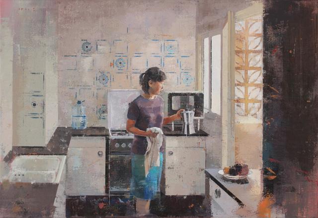 , 'La llum del pati,' 2017, GALERIA JORDI BARNADAS