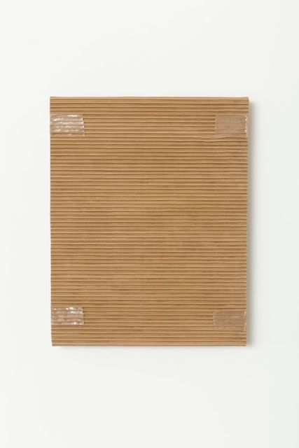 Tammi Campbell, 'Monochrome with Corrugated Cardboard and Tan Packing Tape', 2016, Division Gallery