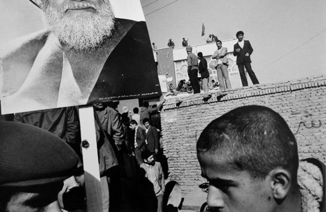 Gilles Peress, 'Pro-Sharvatmadari', 1980, Photography, Gelatin Silver print, ClampArt