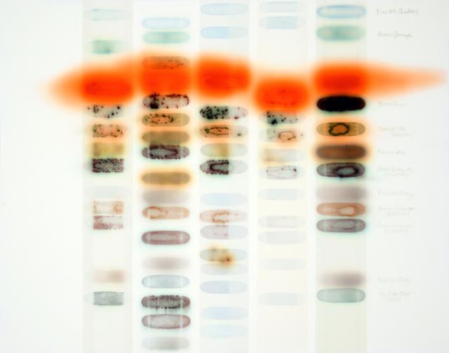 , '5 Lanes (C. Vermillion),' 2018, Dolby Chadwick Gallery