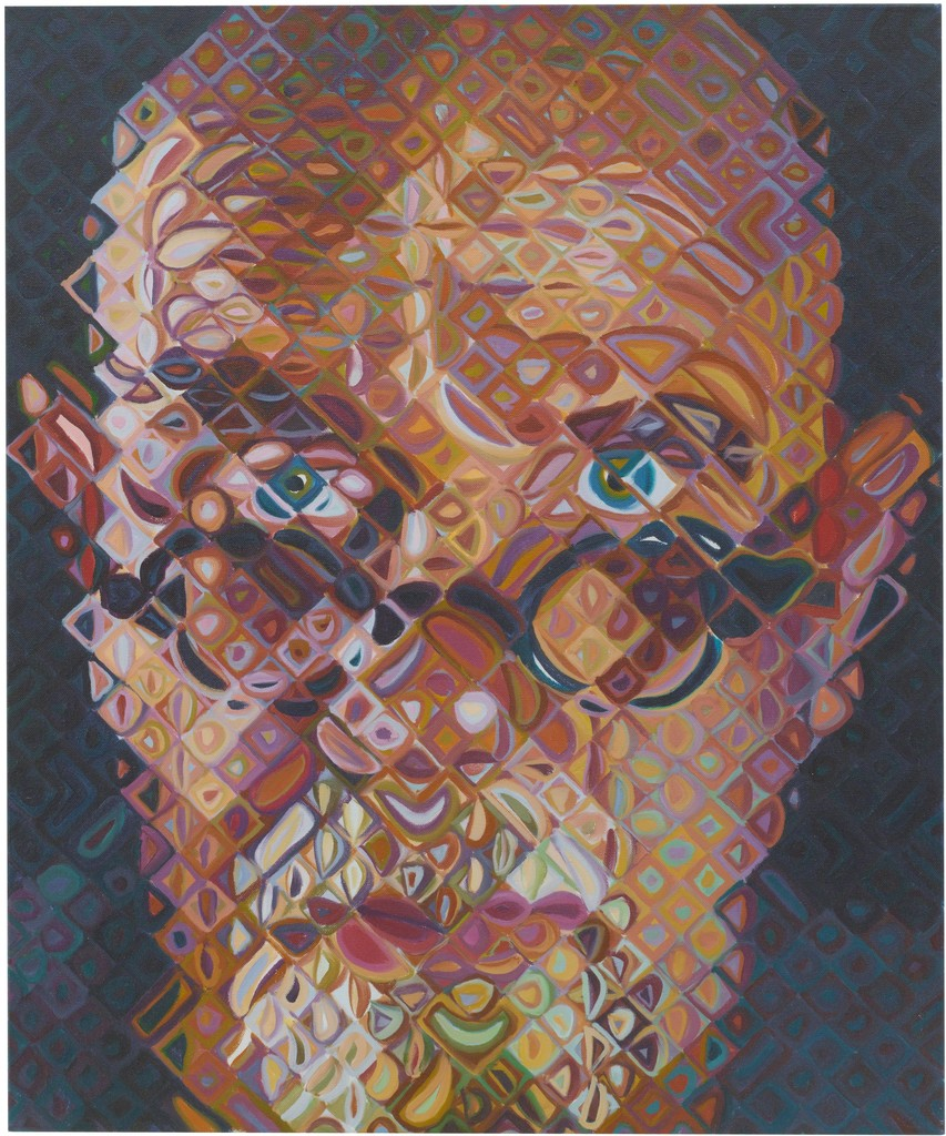 Self portrait ii chuck close