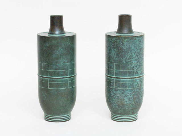 Haguda Shogoro, 'Pair of Green Patinated Bronze Vases', ca. 1980, Patrick Parrish Gallery