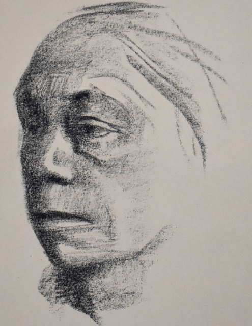 Käthe Kollwitz, 'Small Self-portrait to the Left | Kleines Selbstbildnis nach Links', 1922, Gilden's Art Gallery