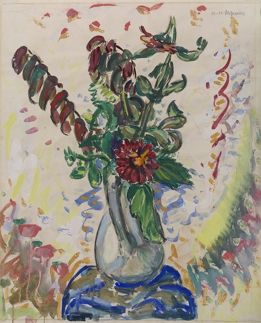 Alfred H. Maurer, 'Flowers in a White Pitcher', 1926-1928, Debra Force Fine Art