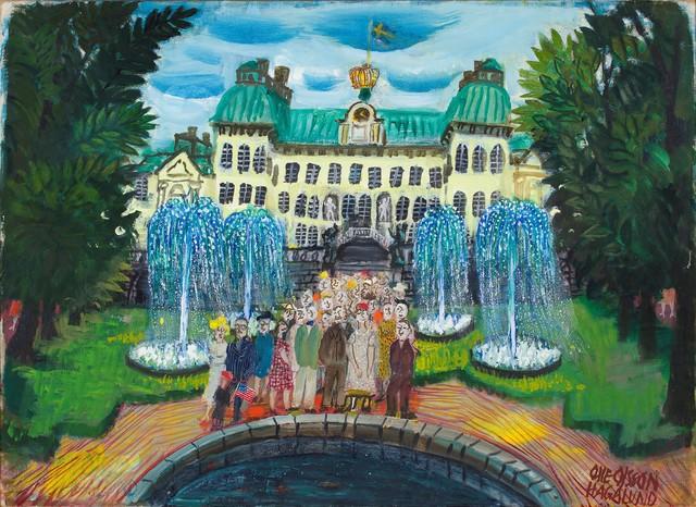 , 'Drottningholms slottspark,' ca. 1950, CFHILL