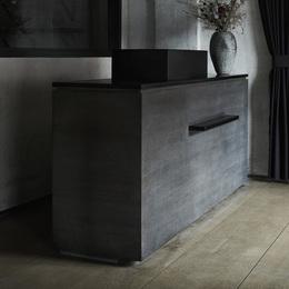 custom reception cabinet