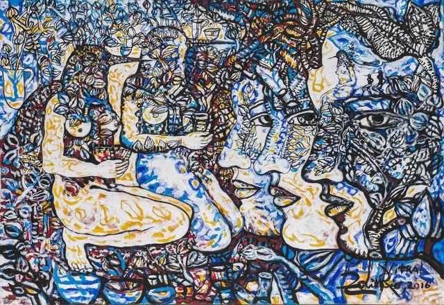 Zaida del Río, 'Vitral', 2016, Painting, Mixed on canvas, ArteMorfosis - Cuban Art Platform