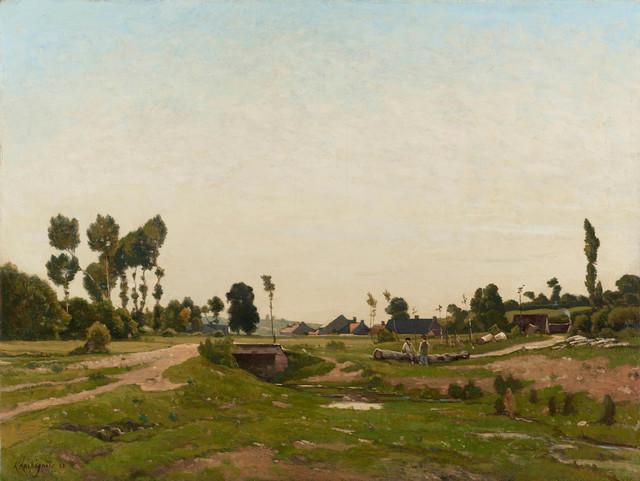 , 'Conversation près du ruisseau,' 1883, Stoppenbach & Delestre