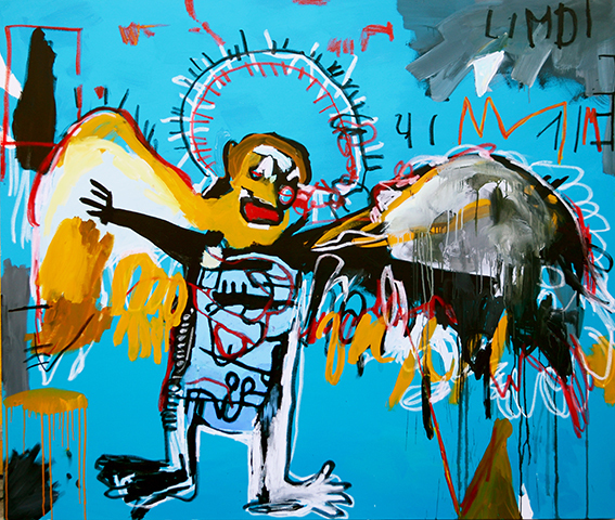 , 'Migrant Reenacment: Fallen Angel,' 2015, Galería Alfredo Ginocchio