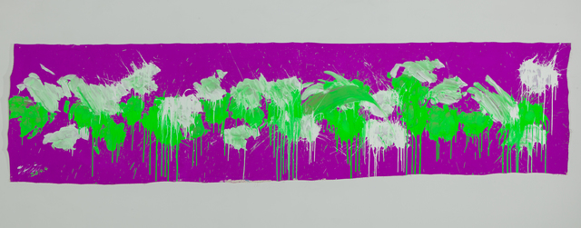 , 'Green & White on Purple – April 2014,' 2014, Deborah Colton Gallery