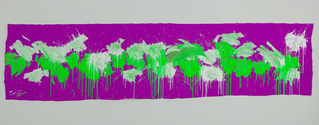 Green & White on Purple – April 2014
