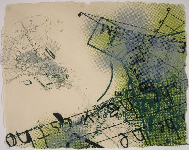 David Opdyke, 'Being-In: Al, George, Ralph and Jack', 2011, Print, Screenprint on vintage banana handmade paper, Lower East Side Printshop
