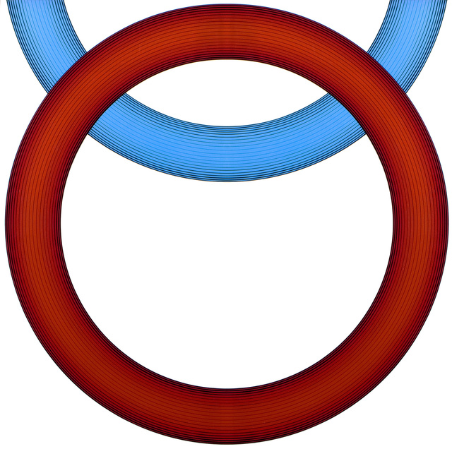 , 'D-156A (Red and Blue Rings),' 1966, D. Wigmore Fine Art