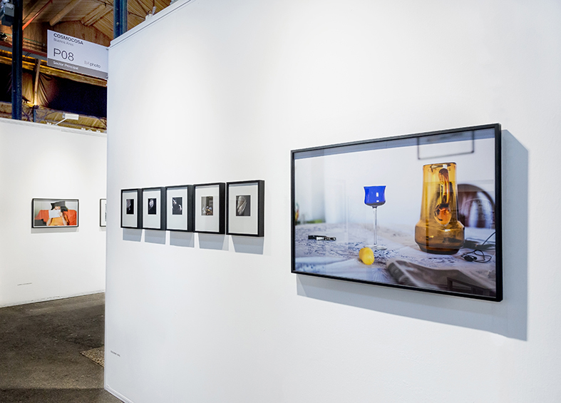 Booth View, photos of Guillermo Ueno, Ignacio Iasparra and Alberto Goldenstein