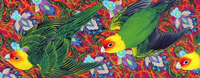 , 'Americana #16 Carolina Parakeet,' 2015, Marta Hewett Gallery
