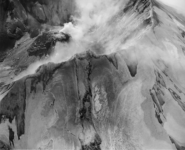 , 'Aerial view: Mount St. Helens rim, crater and lava dome,' 1982, Etherton Gallery