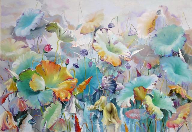 , 'Lotus pond in fog,' 2017, A-Art Shengzan Gallery