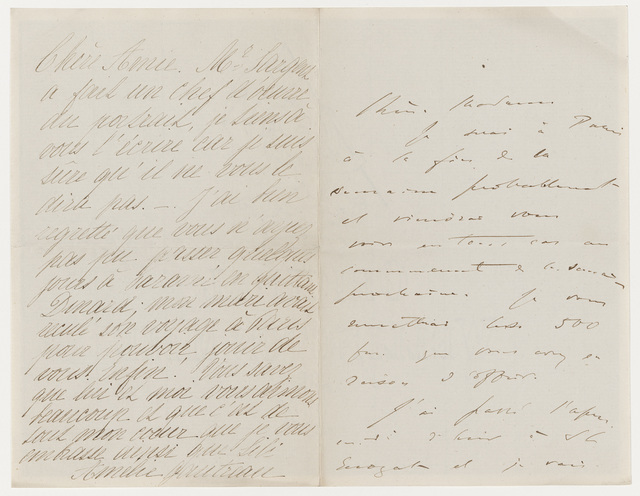 , 'Letter regarding John Singer Sargent's Madame X,' , Museum of Fine Arts, Boston