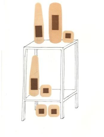 , 'Estante con curitas,' 2010, Nube Gallery