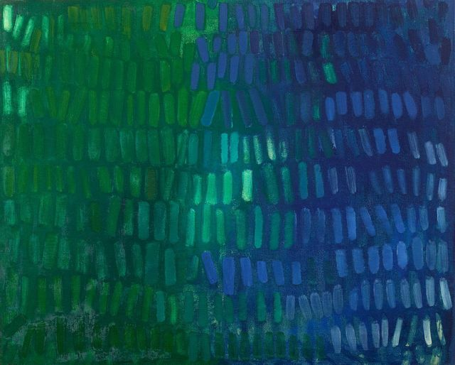 , 'Blue Green No. II,' 1963, Berry Campbell Gallery