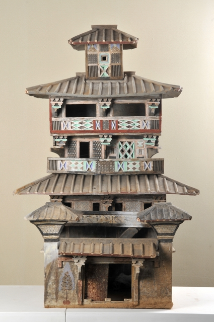, 'Model of a five-level granary,' 25 -220 AD, Musée national des arts asiatiques - Guimet