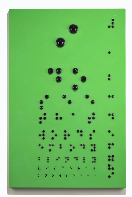 , 'Braille Eye Chart,' 2010, Turner Carroll Gallery