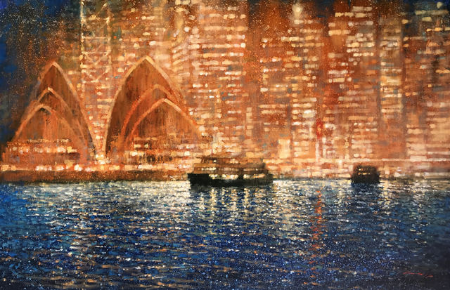 , 'Harbour Lights, Opera House,' 2019, Wentworth Galleries