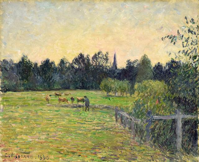 Camille Pissarro, 'Vacher dans un Pré à Éragny', 1890, Stern Pissarro
