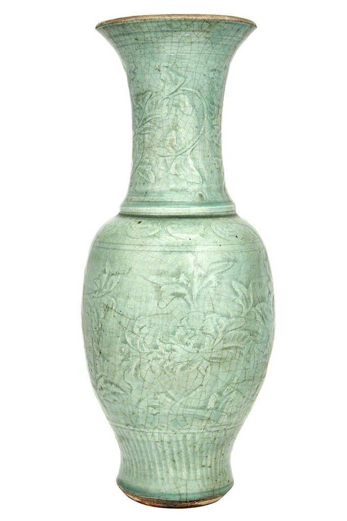 Chinese Longquan Celadon Vase Ming Dynasty Artsy