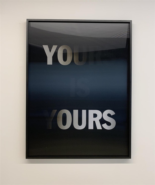 Hank Willis Thomas, 'Mine is Yours, Yours and Mine (BLACK)', 2019, MARUANI MERCIER GALLERY