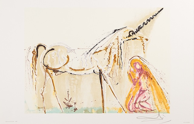 Salvador Dalí, 'La Licorne (Unicorn)', 1983, Art Lithographies