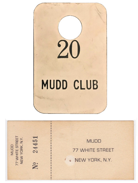 , 'Mudd Club NYC, 4-PIECE SET, (1) Coat Check Stub, (3) Admission Tickets, circa. 1978-83,' 1978-1983, VINCE fine arts/ephemera