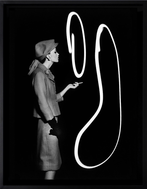 , 'Dorothy blowing light smoke rings, Paris,' 1962, HackelBury Fine Art