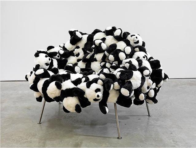 , 'Panda Pouff,' 2010, Galerie Clemens Gunzer