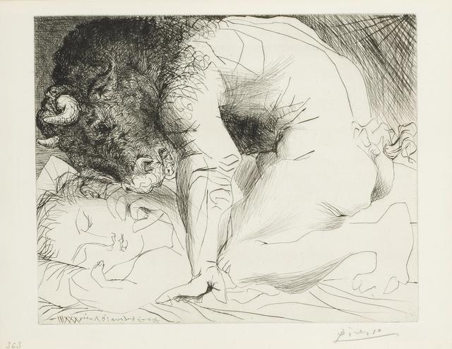 Pablo Picasso, 'Minotaure caressant une dormeuse (B. 201; Ba. 369)', 1933, Print, Drypoint, Sotheby's