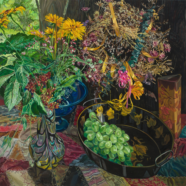 Janet Fish, 'Wreath', 2002, Painting, Oil on canvas, DC Moore Gallery
