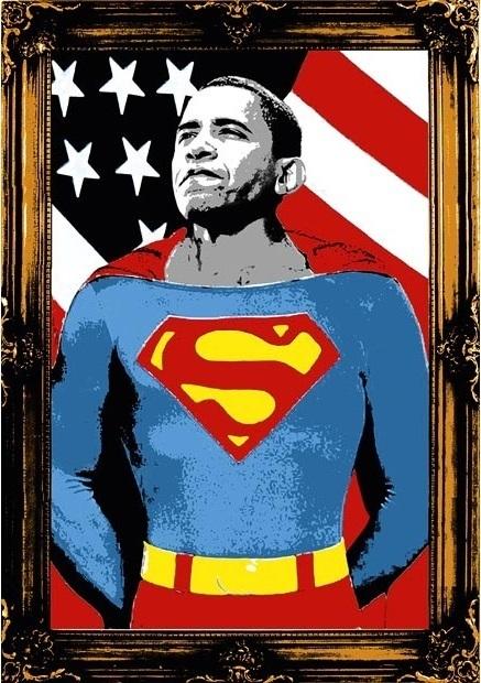 Mr. Brainwash, 'OBAMA SUPERMAN (GOLD)', 2008, Marcel Katz Art