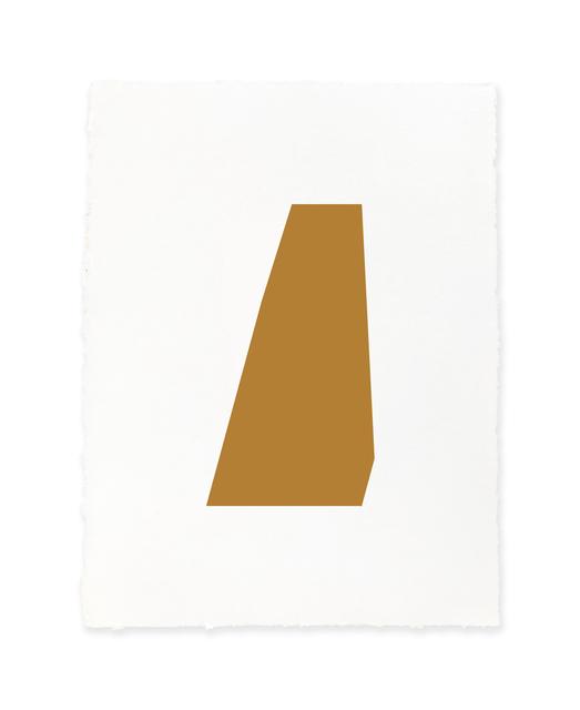Jeff Kellar, 'white w/raw sienna', 2019, Richard Levy Gallery