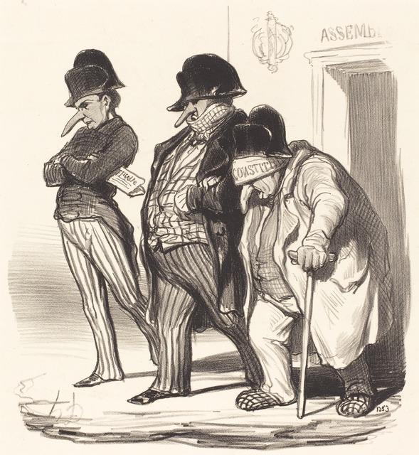 Honoré Daumier, 'Les Journaux Napoléoniens sortant de l'Assemblée Nationale...', 1848, National Gallery of Art, Washington, D.C.