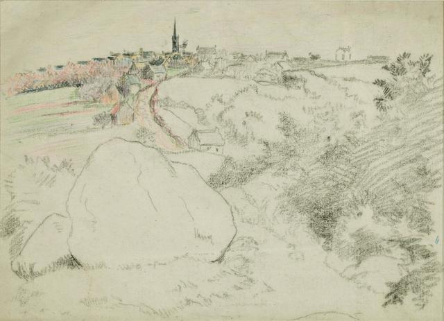 Lucien Pissarro, 'Paysage', ca. 1890, Stern Pissarro