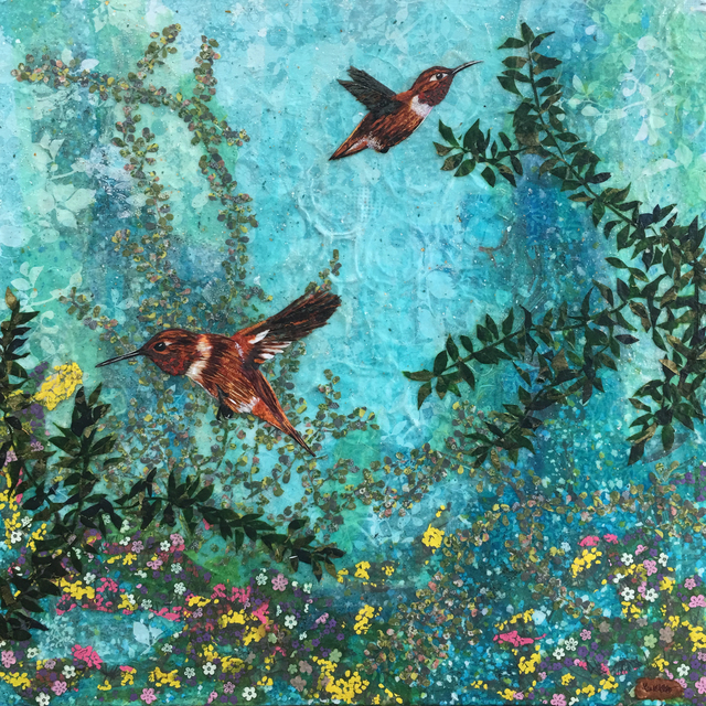 Laura Adams, 'Rufous Hummingbirds', 2018, Brickworks Gallery