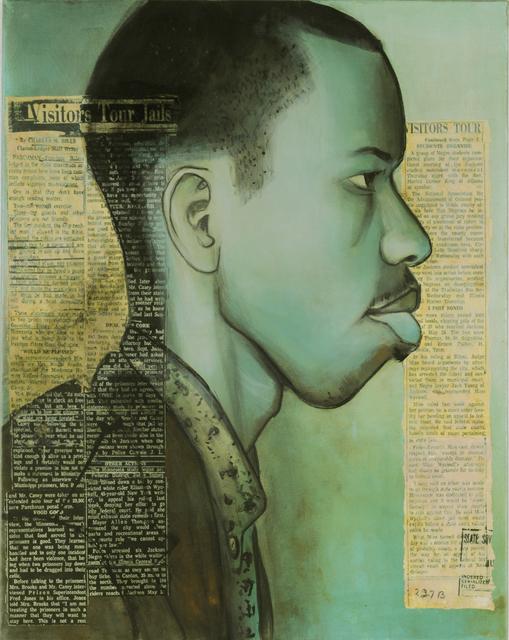 Charlotta Janssen, 'Earnest (Rip) Patton Jr  (Profile) 21 yrs, from Nashville TN Arrested 7/30/1961 Jackson MS', 2011, Hudson Milliner Art Salon