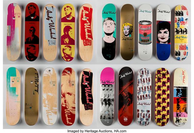 Andy Warhol, 'Set of Ten Skate Decks', n.d., Heritage Auctions