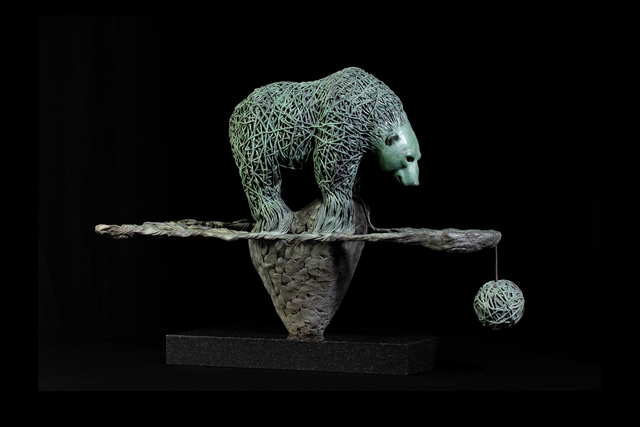 Artem Medvedev, 'The last journey', 2020, Sculpture, Bronze, patina, granite,  OSTASHOV sculpture