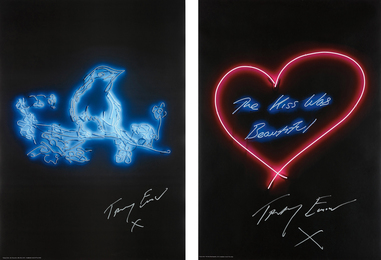 Tracey Emin, 'My Favourite Little Bird; and The Kiss was Beautiful,' 2015-2016, Phillips: Evening and Day Editions